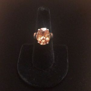 Silpada Oval Citrine .925 Silver Ring Size 8